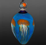 Glass Jellyfish Vase with Lid