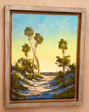 Coastal Oil on Canvas Framed Art