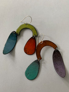 Enamel Chandelier Earrings