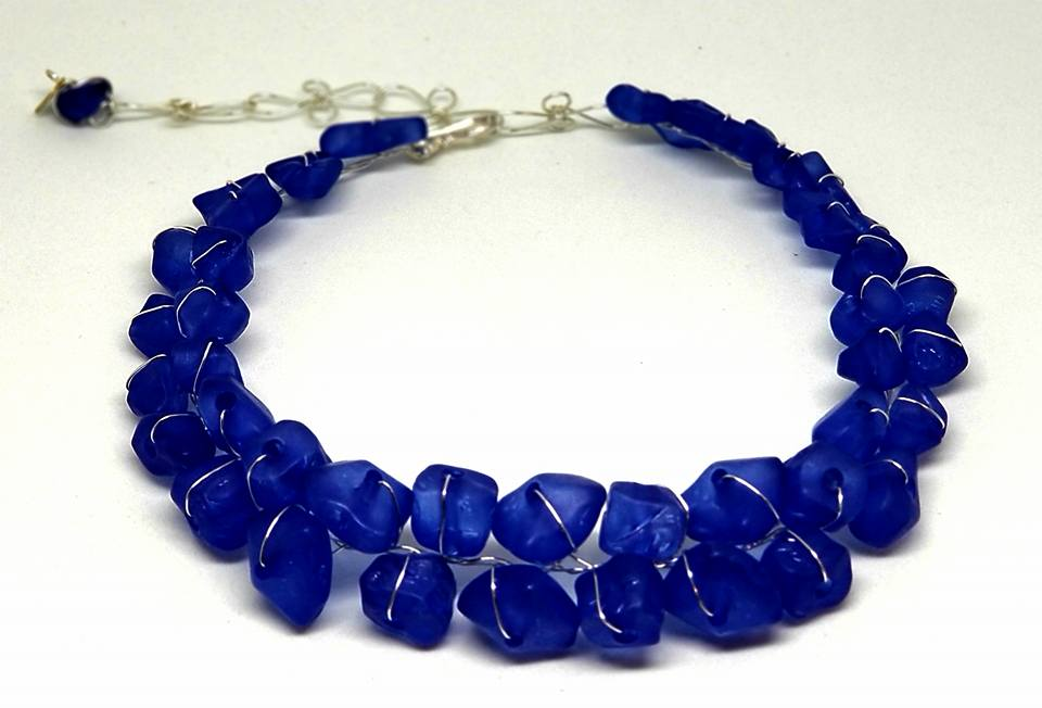 Collar Necklace- Blue