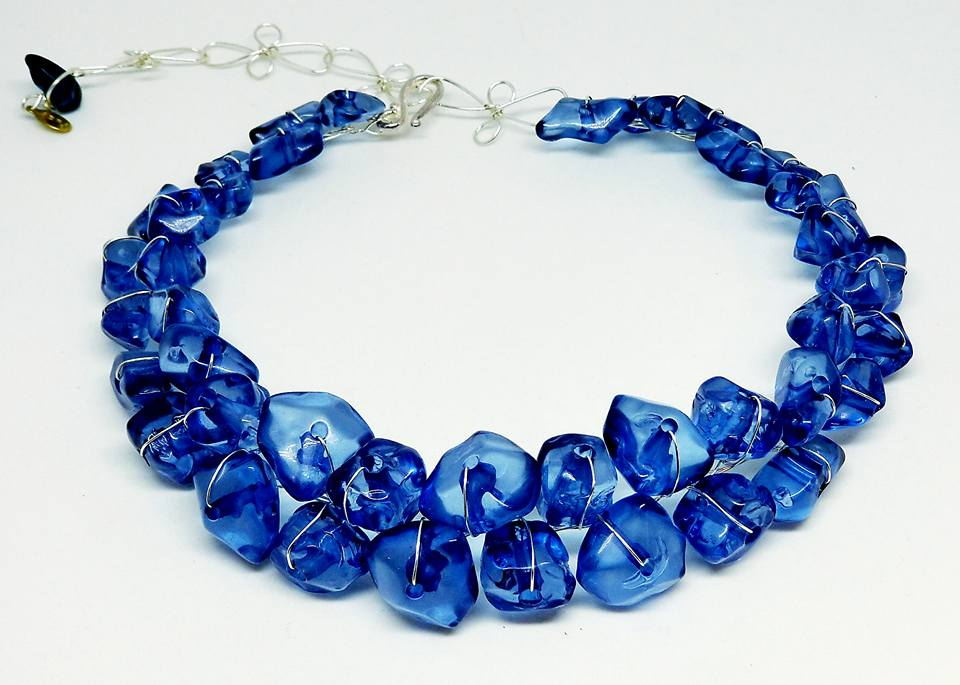 Collar Necklace- Shiny Blue