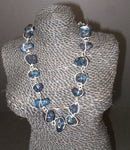 Dark Blue T-shirt Necklace