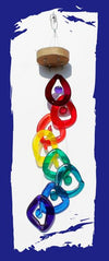 Rainbow Spiral Wind Chime