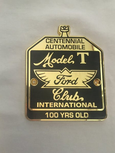 Centennial Automobile Radiator Badge