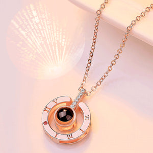 Deal Of The Day // I LOVE YOU Projective Necklace