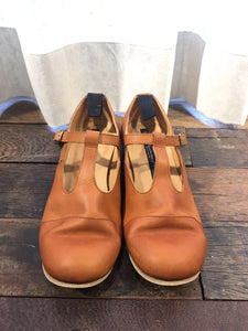 FARMER'S SHOES T-STRAP DERBY