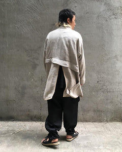LEH,RAW SILK HAORI,medium rare online