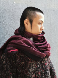 DOUBLE FACE WOOL HANDWOVEN STOLE