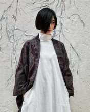 Load image into Gallery viewer, PAISLEY JACQUARD WOOL KESA COAT