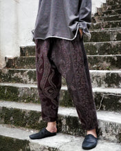 Load image into Gallery viewer, PAISLEY JACQUARD WOOL HIMO PANTS
