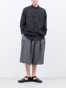 SILK & LINEN DOBBY STRIPE SHORTS