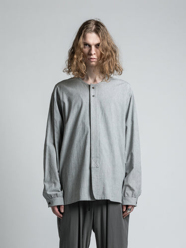 L/S COTTON ROUND NECK SHIRT