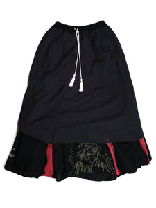 LEH-672 EMBROIDERY POLYTHEISM SKIRT