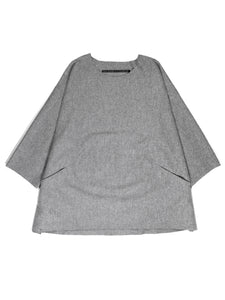WOOL HALF SLEEVES PULLOVER