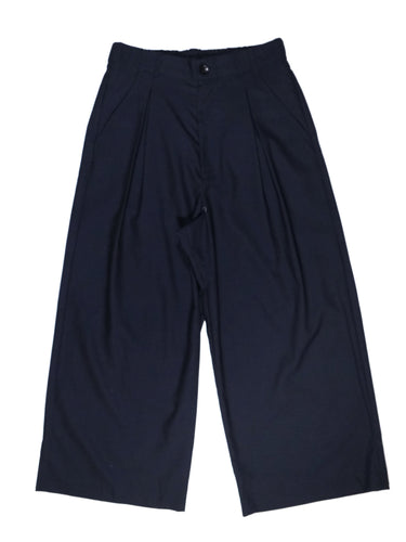 SUMMER WOOL WIDE BAGGY PANTS