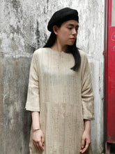 Load image into Gallery viewer, HAND WOVEN KHAKI SILK COCOON ONE-PIECE