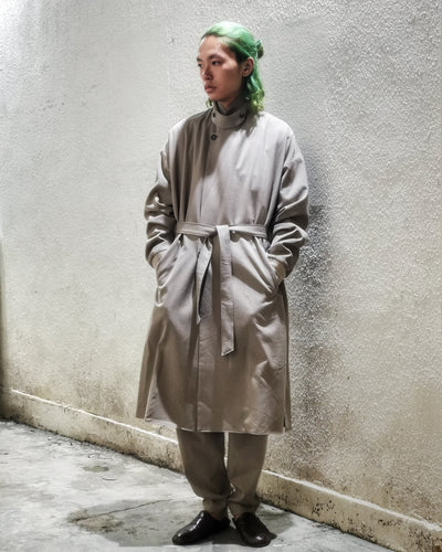 WASH WOOL RIB COAT