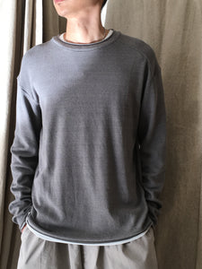 L/S KNITTED CREW NECK