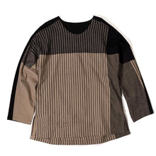 Load image into Gallery viewer, YANTOR,STRIPE KHADI COTTON MERGE PULLOVER,medium rare online
