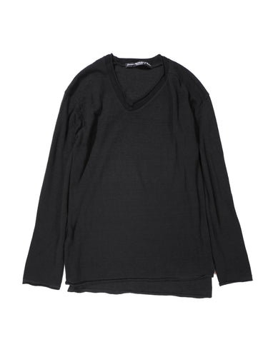 L/S KNITTED V NECK