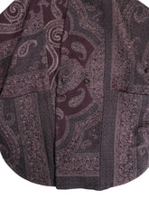 Load image into Gallery viewer, YANTOR,PAISLEY JACQUARD WOOL KESA COAT,medium rare online