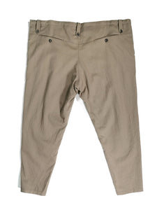 YANTOR,WASH WOOL TAPERED TIE PANTS,medium rare online