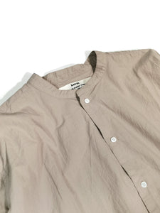 KAVAL,STAND COLLAR SIMPLE SHIRT,medium rare online
