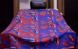 Moses Red & Blue Barber Cape - Barber Cape - Official King Midas Store