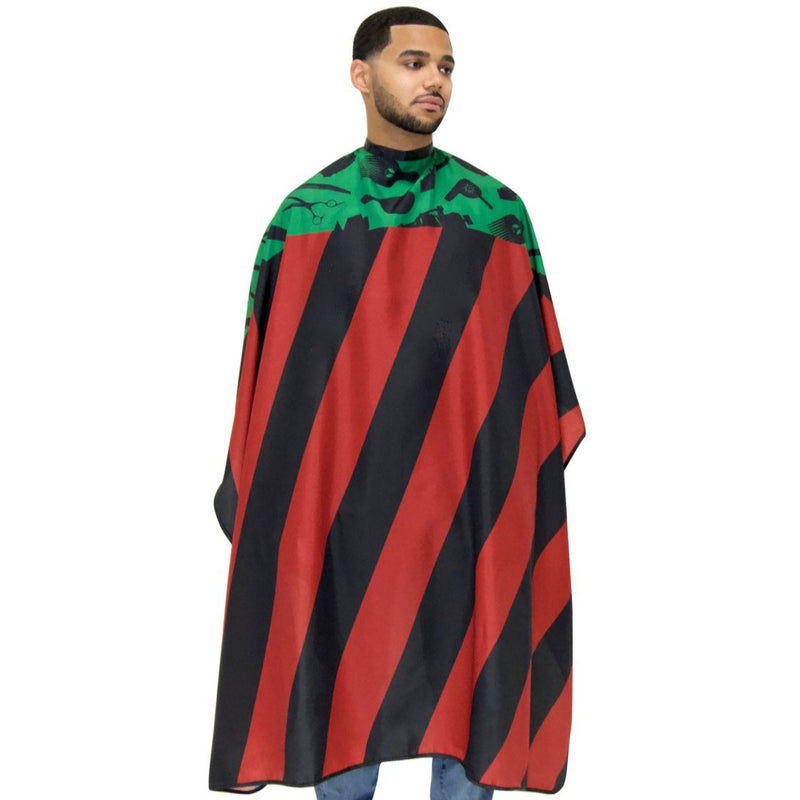 Pan African Flag Barber Cape- Barber capes - Barber Cape - Hair cutting cape - black power barber cape- africa barber cape - professional barber cape- best barber cape - designer barber cape- black power cape