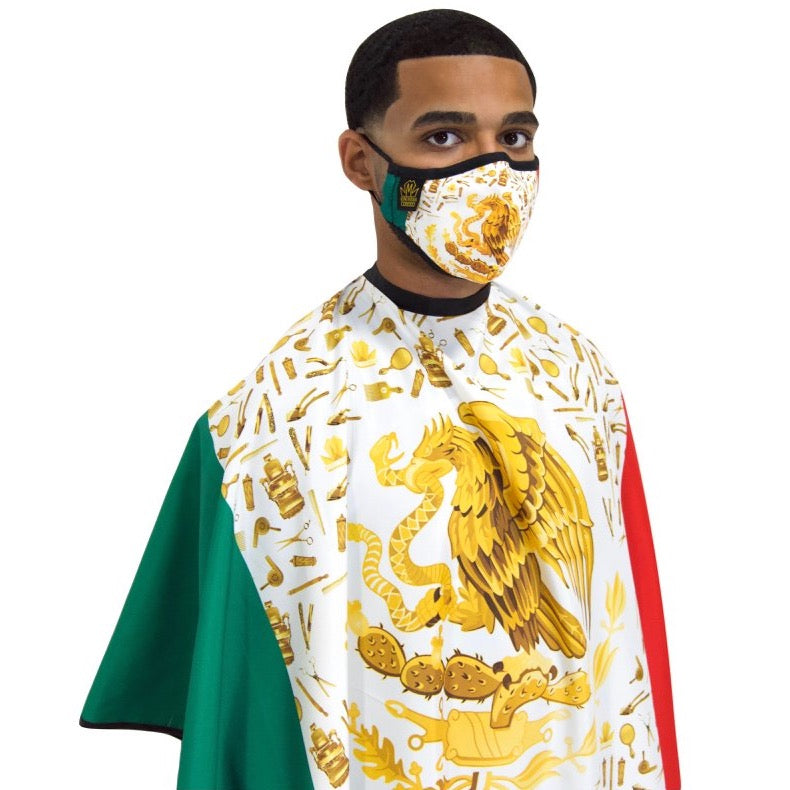 mexico barber cape- mexico barber face mask- mexico cape-mexico barber mask