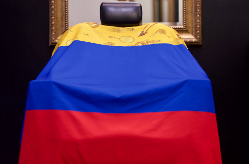 Colombia Hair Cutting Barber Cape - Cape de colombia- colombia flag cutting cape -King Midas Empire