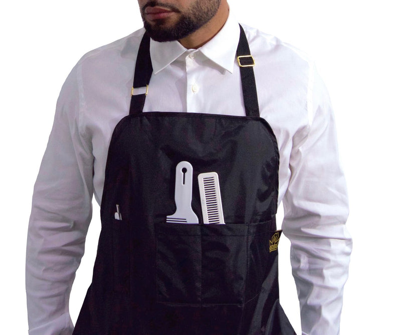 Black chemical proof hair stylist apron - barber aprons - barber apron - hair cutting apron - salon aprons - delantales para barberos
