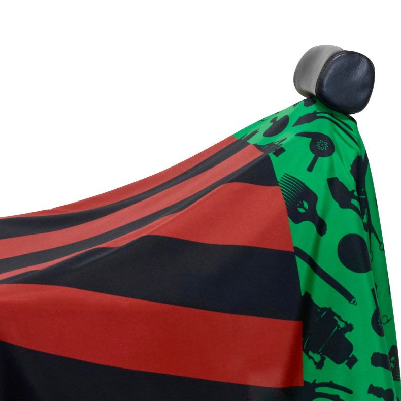 Pan African Flag Barber Cape- Barber capes - Barber Cape - Hair cutting cape - black power barber cape- africa barber cape - professional barber cape- best barber cape - designer barber cape