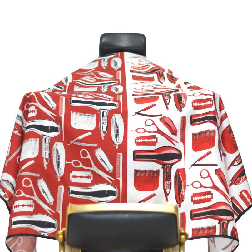 barber capes- barber cape- red barber capes- premium barber cape-cape for barbers -hair cutting capes-stylist capes- king midas capes-