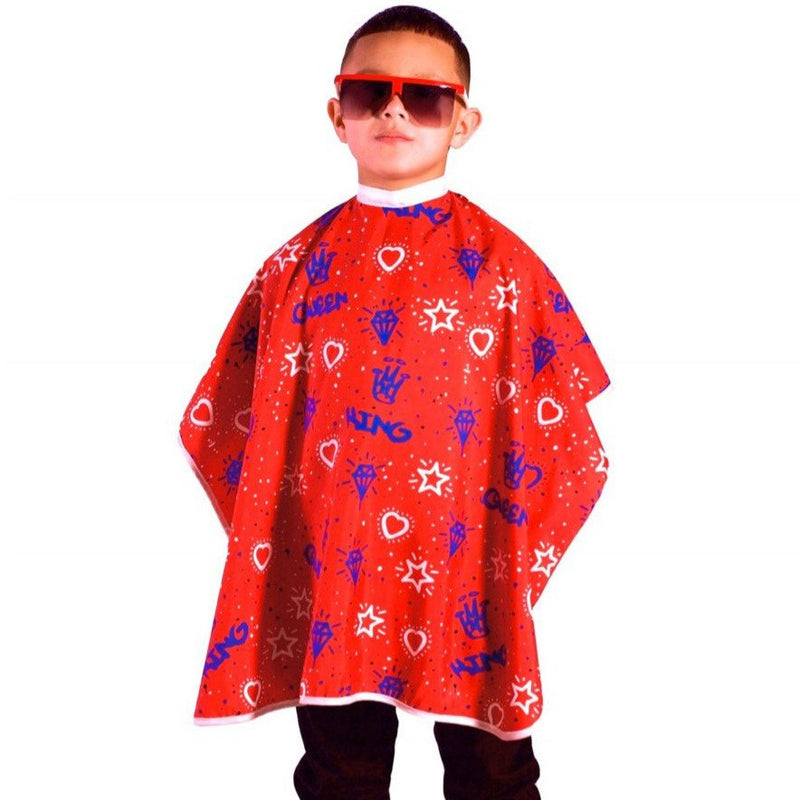 kids barber capes- kids barber capes- barber capes for kids-Childrens haircutting capes- unisex kids hair cutting capes -King Midas kids barber Capes