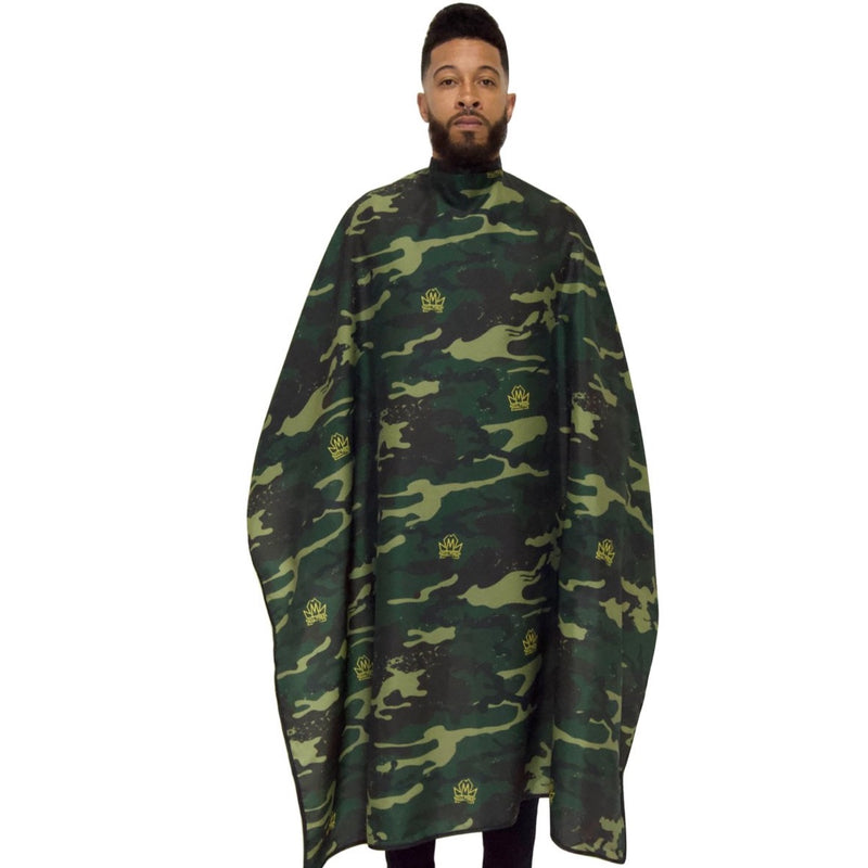 camo barber capes- camo barber cape- camoflauge barber capes- barber cape-cape for barbers -hair cutting capes-stylist capes- king midas capes-