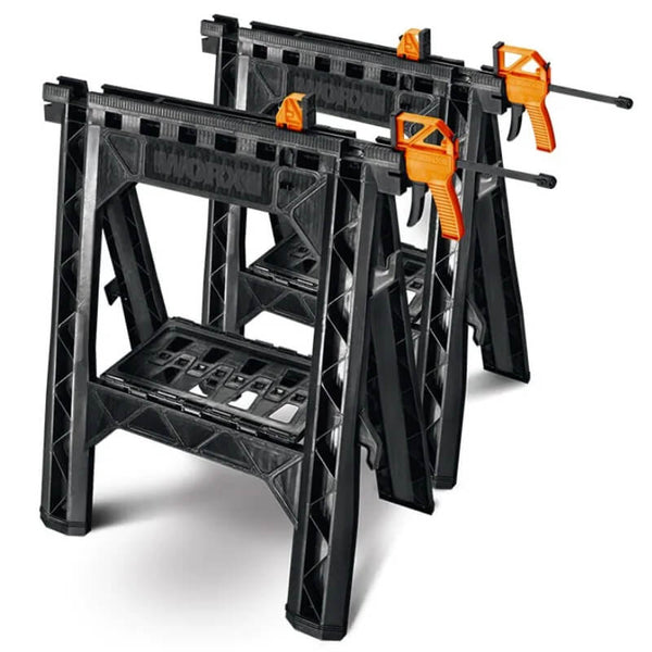 Clamping Sawhorses with Bar Clamps