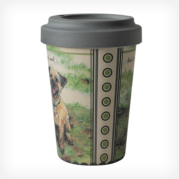 BORDER TERRIER BAMBOO TRAVEL MUG - doggily