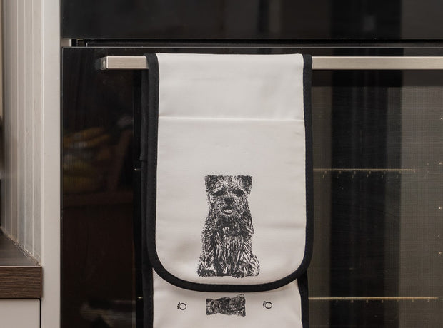 BORDER TERRIER - DOUBLE OVEN GLOVES - doggily