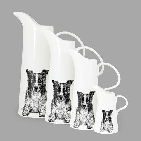 BORDER COLLIE - X LARGE JUG (30cm HIGH) - doggily