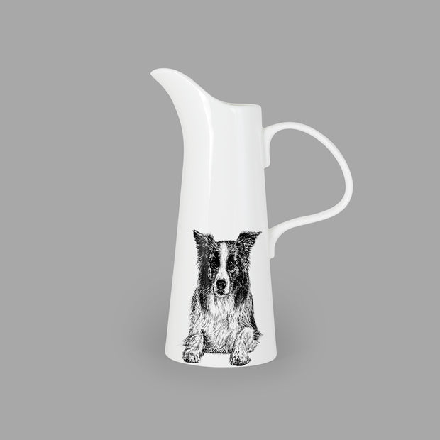 BORDER COLLIE - LARGE JUG (25cm HIGH) - doggily