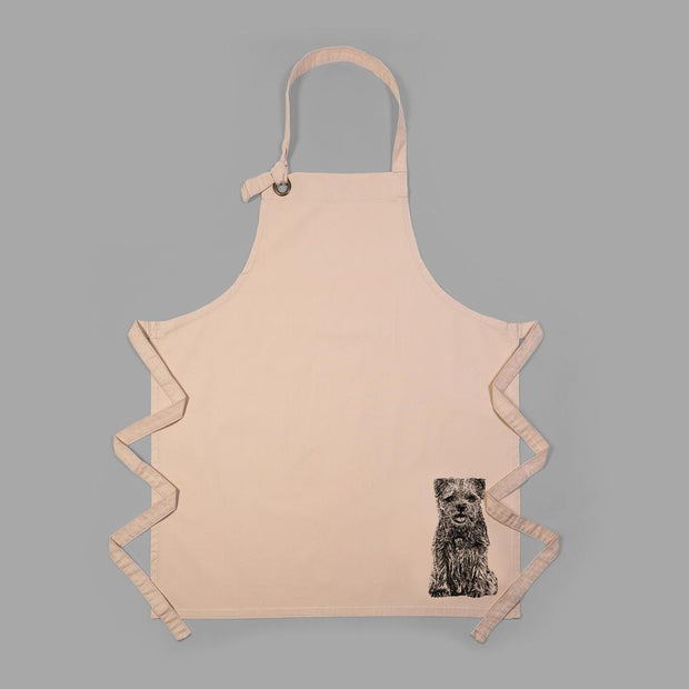 BORDER TERRIER - FULL BIB ADULT APRON - doggily