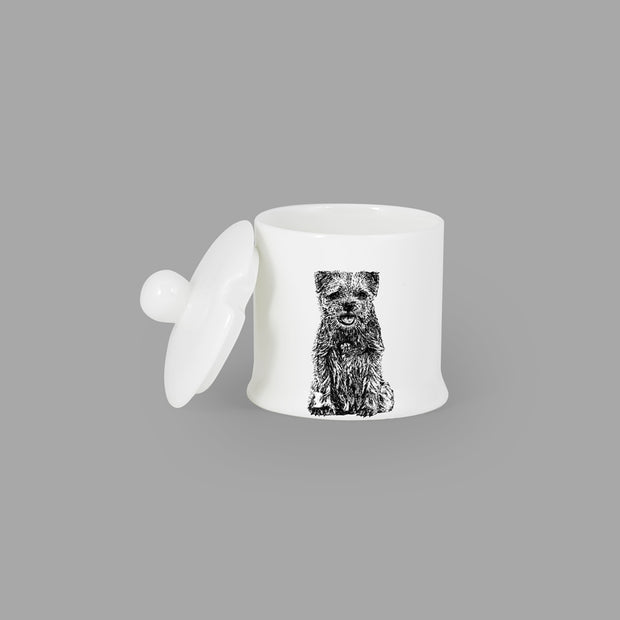 BORDER TERRIER - CONDIMENT JAR (150ml/9cm HIGH) - doggily
