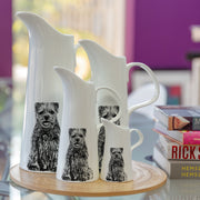 BORDER TERRIER - LARGE JUG (25cm HIGH) - doggily