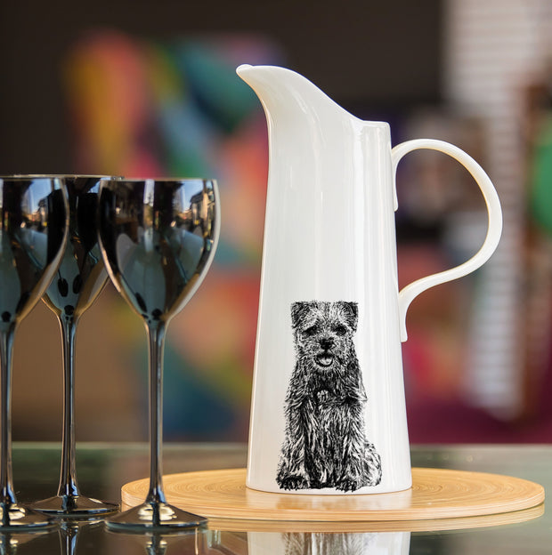 BORDER TERRIER - X LARGE JUG (30cm HIGH) - doggily