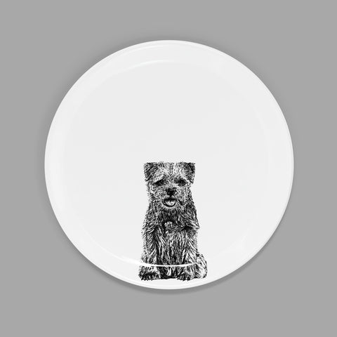 BORDER TERRIER - SIDE PLATE  (21cm DIAMETER) - doggily