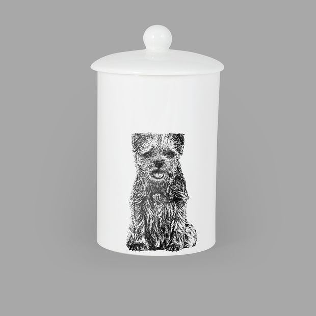 BORDER TERRIER - TREAT / STORAGE JAR (900ml/18cm HIGH) - doggily