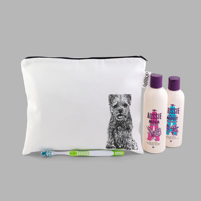 BORDER TERRIER - WASH BAG WITH ZIP - doggily