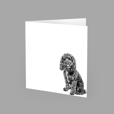 COCKAPOO - GREETING CARD 15cm x 15cm (BLANK INSIDE) - doggily
