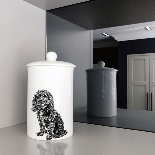 COCKAPOO - TREAT / STORAGE JAR (900ml/18cm HIGH) - doggily